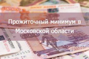 Прожиточный минимум в московской