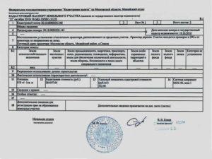 Кадастровый паспорт на землю как выглядит