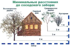 При строительстве дома сколько нужно отступать от забора соседей