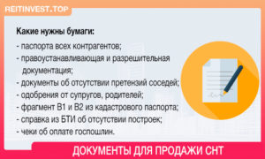 Перечень документов на дачный участок