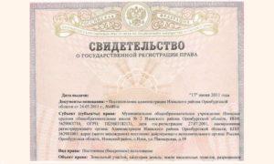 Свидетельство о регистрации дома