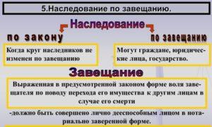 Законы о наследстве в россии
