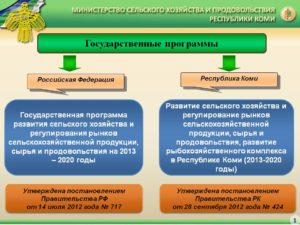 Программа поддержки сельского хозяйства