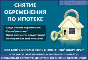 Какие нужны документы чтобы снять обременение с квартиры по ипотеке