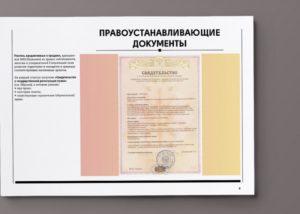 Правоудостоверяющие и правоустанавливающие документы