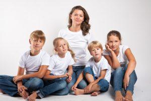 В семье 4 детей