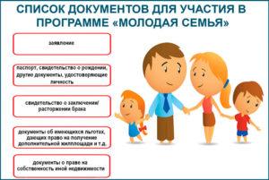 Встать на молодую семью