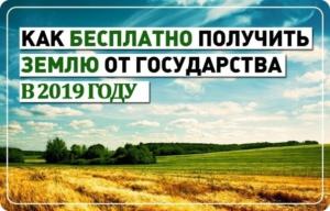Кто Может Получить Землю Бесплатно От Государства