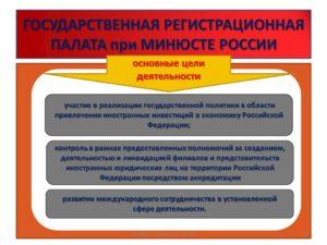 Какие основные функции возложены на регистрационную палату в настоящее время