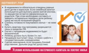 Можно ли купить долю в квартире на материнский капитал у отца ребенка